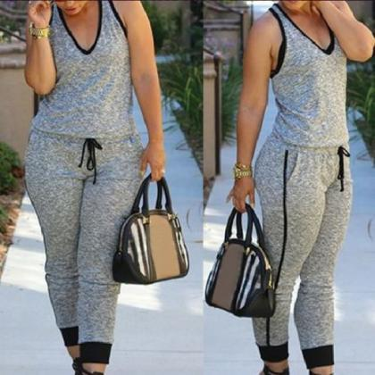 HOT CUTE GREY JUMSUIT