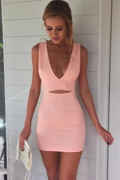CUTE DEEP V HOT DRESS