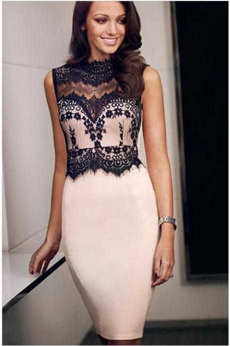 HOT LACE VEST DRESS HIGH QUALITY