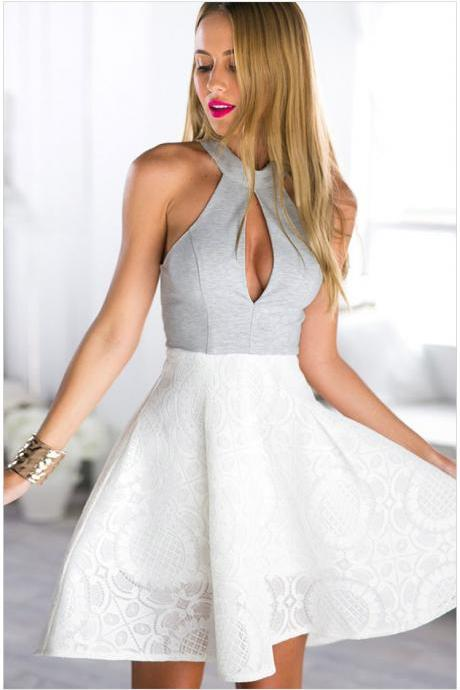 hot straps lace dress