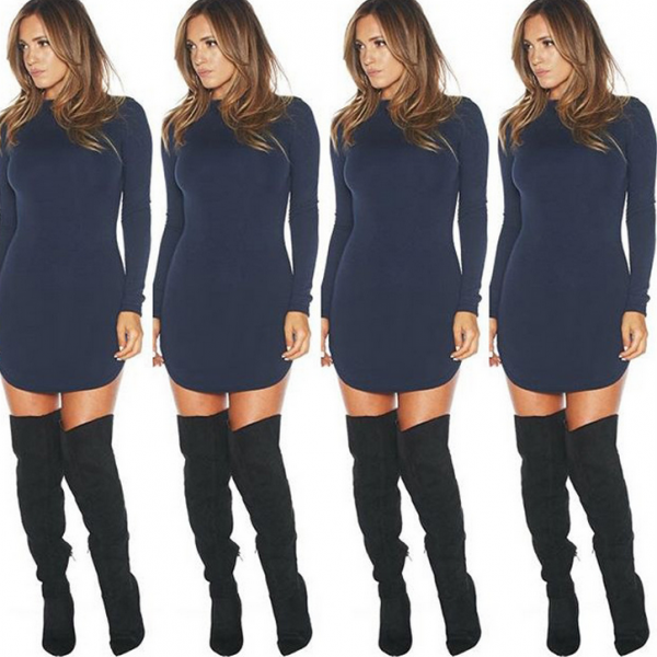 HOT SHOW BODY LONG SLEEVE DRESS